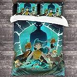 Juego de ropa de cama de 3 piezas de 218 x 177 cm, Wa-Kfu precioso juego de cama Queen con 2 fundas de cojín clásicas para habitación de invitados de adolescentes
