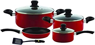 Royal ford Non stick Cookware Set RF6082 8Pieces, Red