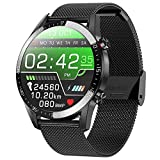 jpantech Smartwatch Orologio Fitness Uomo Donna Impermeabile IP68 Smart Watch Cardiofrequenzimetro da Polso Contapassi Smartband Activity Tracker Bambini Cronometro per Android iOS (Nero)