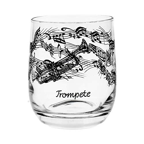 Glas Trompete schönes Geschenk für Trompeter