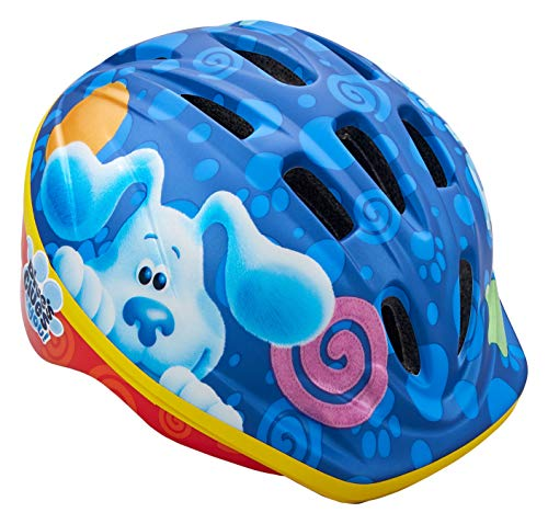Nickelodeon Blue's Clues and You Kids Bike Helmet, Toddler 3-5 Years, Adjustable Fit, Vents, Blue/Red