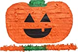 Halloween Pumpkin Pinata with stick 17' x 10' x 5' Perfect for Halloween Party Decorations, Centerpiece, Photo Prop, October Birthday, Funny and Spooky Anniversary - Fits candy/favors: by Get a pinata