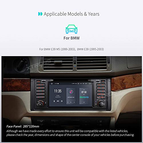 XTRONS Android 10.0 Car Stereo Radio DVD Player 7 Inch Touch Screen GPS Navigation Hexa Core 4G RAM 64G ROM Head Unit Supports Android Auto aptX HDMI DVR Backup Camera OBD TPMS for BMW E39 M5
