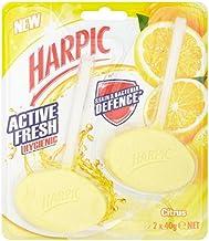 Harpic Active Fresh Hygienic Toilet Block Cleaner Citrus Twin Pack, 80 grams