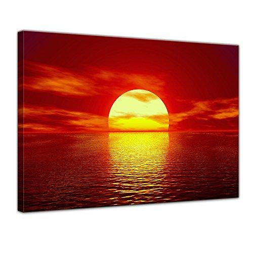 Bilderdepot24 Bild auf Leinwand | Sonne in 70x50 cm als Wandbild | Wand-deko Dekoration Wohnung modern Bilder | 16113