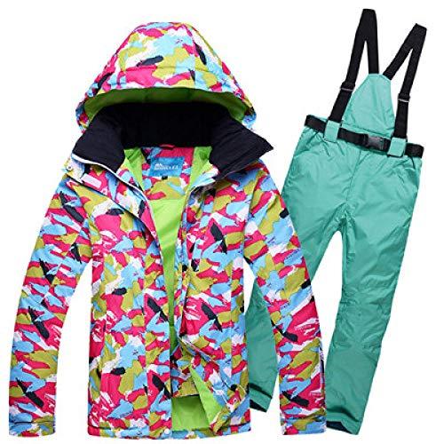 JSGJHXFFree Skipak voor dames, met dubbele ski-jack, waterdicht, goede kwaliteit