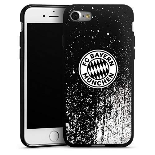DeinDesign Silikon Hülle kompatibel mit Apple iPhone 7 Case schwarz Handyhülle FCB Offizielles Lizenzprodukt FC Bayern München