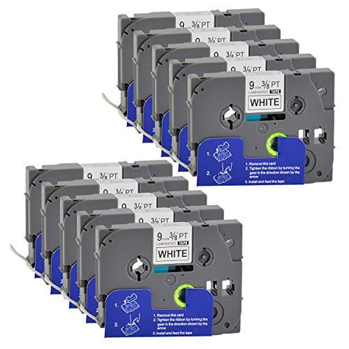 Bubprint 10 Schriftbänder kompatibel für Brother TZE-221 TZE221 für P-Touch 1280 2430PC 2730VP 3600 9500PC 9700PC D400VP D600VP H100LB H105 P700 P750W