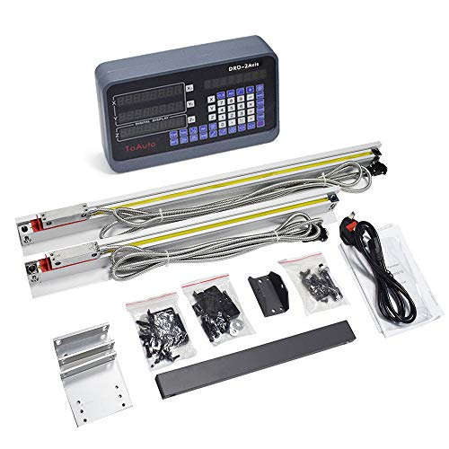2 Axis Digital Readout Dro kit 250mm+ 1000mm Linear Glass Scales for Bridgeport Mill Lathe,US STOCK!
