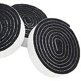 Adsamm | 3 x selbstklebende Filzbänder zum Zuschneiden | 19x1000 mm | Schwarz | Rolle | 3.5 mm starker selbstklebender Filzzuschnitt in Top-Qualität