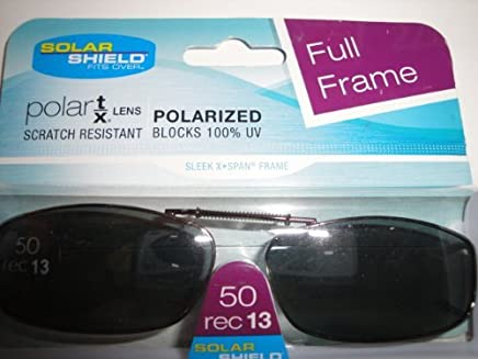 885c633d72 Solar Shield 50 Rec 13 Full Frame Gray Polarized Clip on Sunglasses