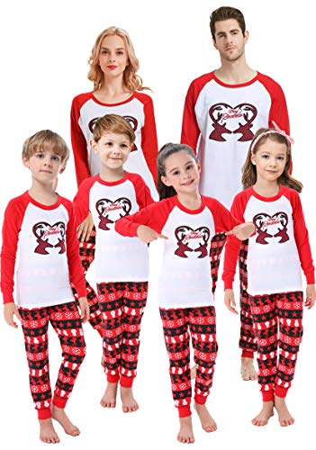 Matching Family Christmas Pajamas Boys Girls Handmade Deer Pjs Toddler Kids Children Sleepwear Baby Clothes Pyjamas Size 12