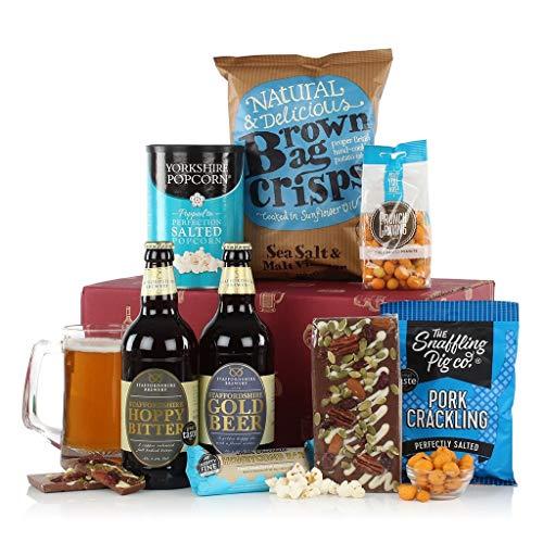 The Big Boy's Box - Mens Food Hamper Gift - Beer and Snacks Hamper