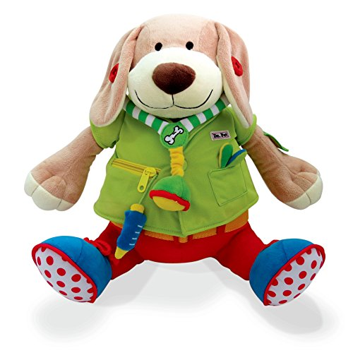 Children's Plush Toy - Dr. Pooch Dress Up Doll - Soft And Snuggly Pal Encourages Motor Growth And Socialization - Dressed In A Removable Outfit So Kid's Can Play And Interact