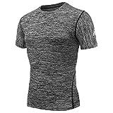 AMZSPORT - Maglietta a Maniche Corte da Uomo, a Compressione e ad...