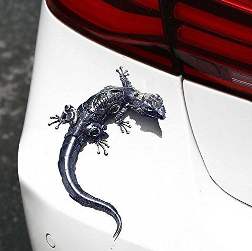 XJ 3D Realistischer Gecko Auto Aufkleber Auto Reflective Terror Aufkleber