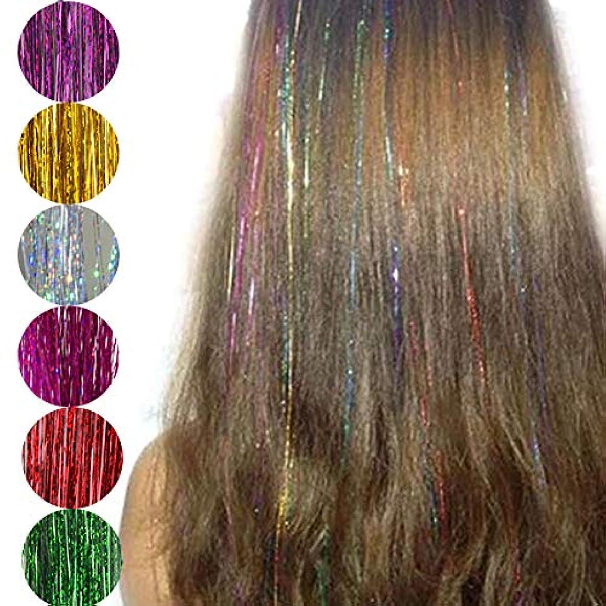 文覗くハッチファッションセクシーな8色髪見掛け倒しキラキラエクステンションハイライト偽髪ストランドパーティーアクセサリー2ピース