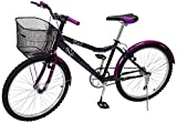 Benotto MRDKYR2401UNNE Bicicleta de Acero Rodada R24, Dama, Frenos V, 1 velocidad