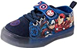 Favorite Characters Boy's Marvel Avengers Motion Lighted Canvas Sneaker, Toddler, Size 8 Blue
