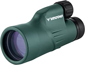 Wingspan Optics Nature 10X50 Wide View Monocular. for The Brightest and Clearest Views. for Bird Watching and Wildlife. Single Hand Focus. Waterproof, Fogproof. Formerly Polaris Optics.