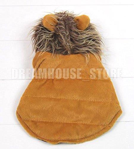 Pet vêtements pour chien chat Marron pour Chien Lion pour Halloween Costume Gilet Vêtements XS S M L XL