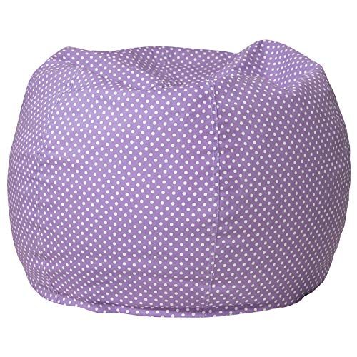 Flash Furniture Small Lavender Dot Bean Bag Chair for Kids and Teens