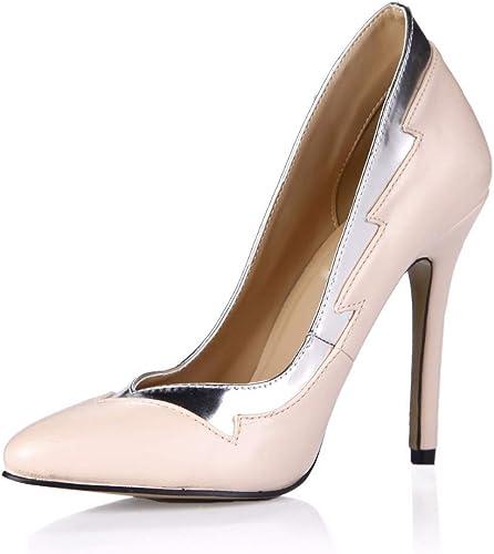 GRHWTAS Style Mode Femmes Bout Pointu Pointu Grand Plus La Taille Femme Chaussures à Talons Hauts pour Femmes Pompes Les Les dames  les dernières marques en ligne