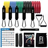 Fitness Insanity Resistance Bands Set - 5-Piece Exercise Bands - Portable Home Gym Accessories - Stackable Up to 150 lbs. - Perfect Muscle Builder for Arms, Back, Leg, Chest, Belly, Glutes