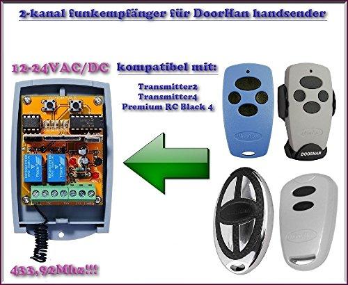 DoorHan compatibele radio-ontvangermodule in behuizing, 2-kanaals universele ontvanger voor Ditec GOL4, GOL4C, BIXLP2, BIXLS2, BIXLG4 handzender. 12-24 V AC/DC.