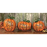 Resin Thanksgiving Pumpkin Set (3 Pieces) Carved with...