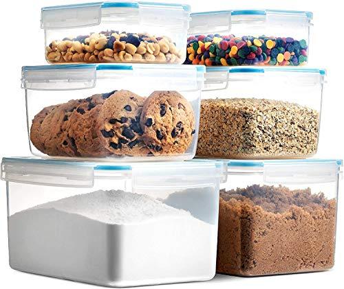 Komax Biokips Frischhaltedosen mit Deckel, 6 Stück, für Küche und Speisekammer, BPA-frei für Zucker, Mehl, Trockenfutter