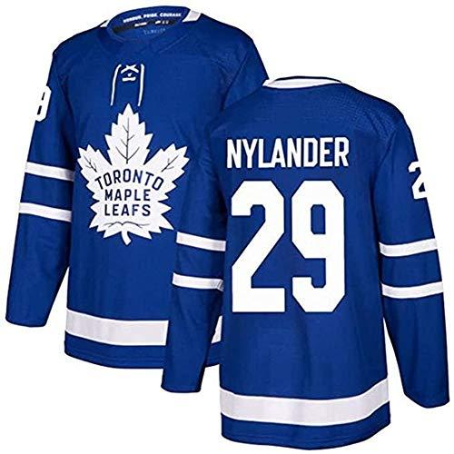 ZRHXN Lässige Mode Eishockey Trikot Toronto Maple Leafs # 29 NYLANDER Trikot, Gedenkkollektion Trikot,S
