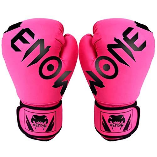 Training Boxhandschuhe, Erwachsene Kinder Boxhandschuhe (10 Unzen 6 Unzen), Groß Für Schwere Boxsack, Double End Speed Ball & Focus Pads Stanzen,Rosa,6oz