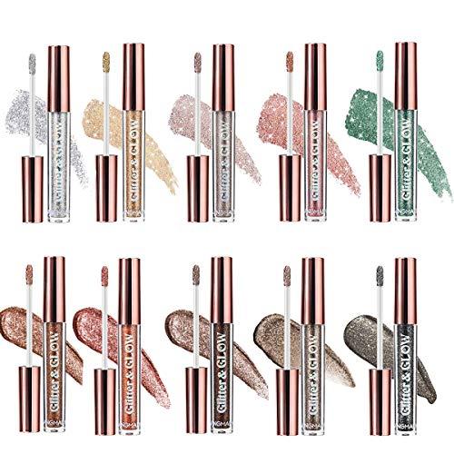 10 couleurs fard à paupières liquide scintillant brillant métallique brillant scintillant longue durée étanche kit de fard à paupières lueur hautement pigmentée scintillant diamant nacré cosmétique