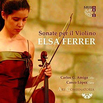 Sonate per il violino Elsa Ferrer