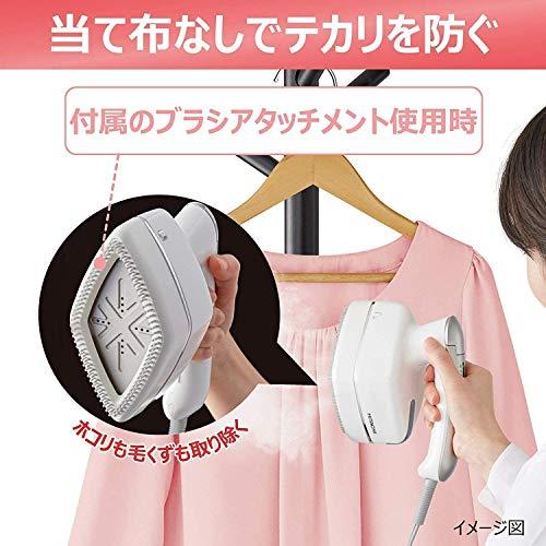 日立衣類スチーマースチームアイロンワンプッシュ連続スチーム3段階温度切替持ちやすいハンドルブラシ付きCSI-RX2Rルビーレッド