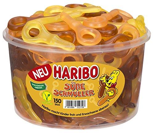 Haribo Süße Schnuller Runddose, 150 Stück, 1350 g