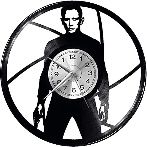 hhhjjj Reloj de Pared James Bond (Vinilo Grande) diseño Vintage