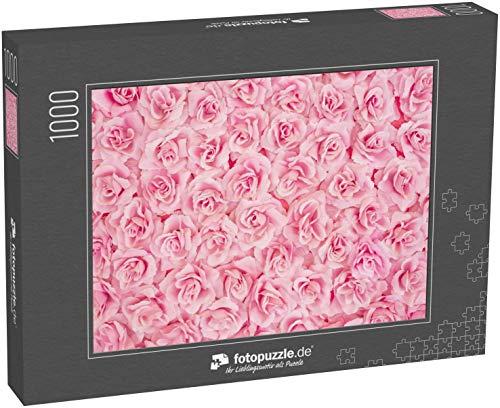 Puzzle 1000 Teile Hintergrundbild der rosa Rosen - Klassische Puzzle, 1000 / 200 / 2000 Teile, edle Motiv-Schachtel, Fotopuzzle-Kollektion 'Impossible Puzzle'