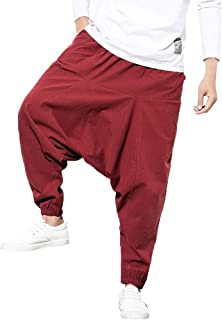 VonVonCo Mens Splicing Printed Overalls Casual Pocket Sport Work Casual Trouser Pants M-5XL