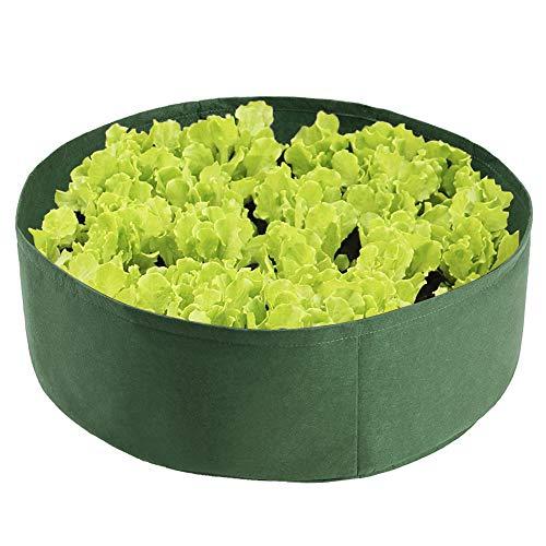 æ— Hochbeet aus Stoff, 45 Liter, rund, erhöhter Pflanzsack, großer Stoff-Pflanzsack mit 6 Pflanzenetiketten, atmungsaktiver Pflanzbehälter zum Bepflanzen von Kräutern, Blumen, Gemüse