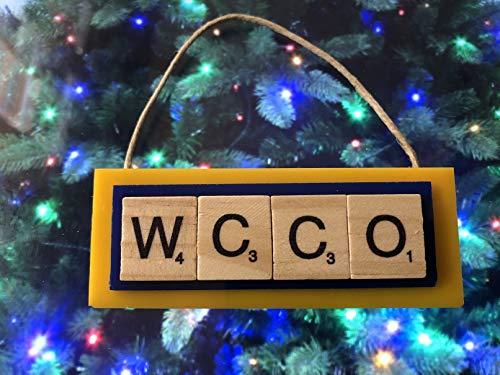 WCCO Radio Station Minneapolis MN 830 Christmas Ornament Scrabble Tiles