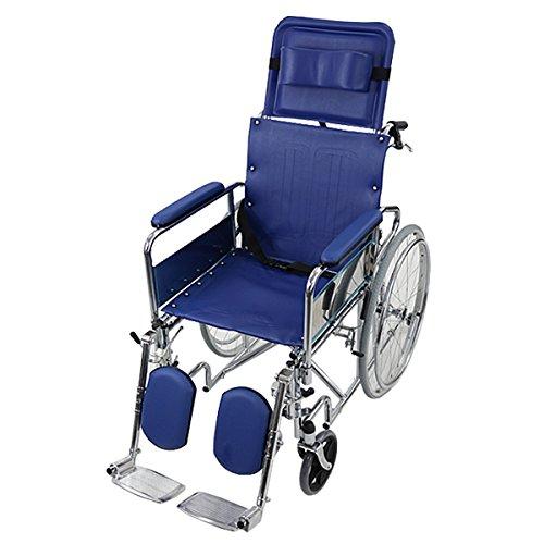 自走介助兼用 リクライニング車椅子 青 TAISコード取得済 折り畳み 携帯バッグ付き ノーパンクタイヤ フルリクライニング車椅子 リクライニング フルリクライニング 自走用車椅子 自走式車椅子 自走用 介助用 自走 介助 車椅子 車イス 車いす ブルー