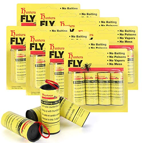TS LLC 32pc Sticky Fly Ribbon Paper Strips Flying Insects Catcher Tapes for Flies Bugs Mosquitoes Catching
