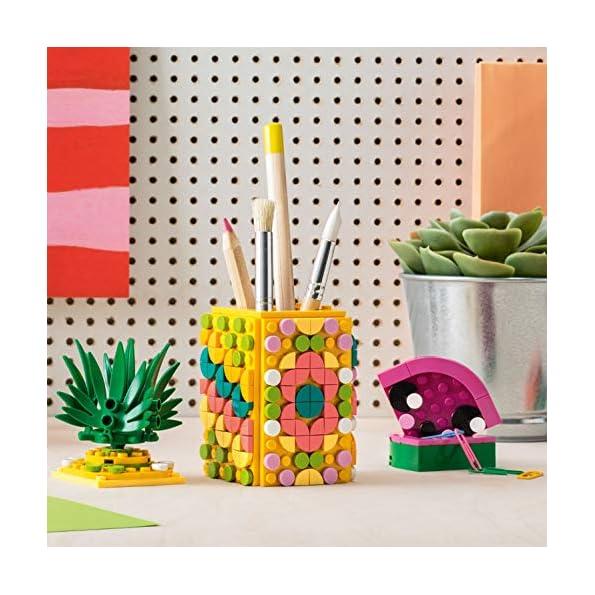 LEGO-Dots-Portapenne-Decora-i-Pannelli-dellAnanas-e-della-Piccola-Scatola-Anguria-ed-Esponi-Le-tue-Creazioni-Set-di-Costruzioni-Decorativo-Bambini-6-Anni-41906