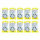 Rayovac PR-70 (10) Extra Advanced 1.4V Zinc-Air Hearing-Aid Battery Bulk Pack (60pcs)