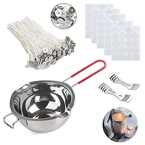 Kit para Hacer Velas,Mechas Velas Naturales,Candle Making Kit,Kit para Hacer Velas Caseras,Para la Fabricación de Velas,Vela DIY,Algodón Orgánico Natural,203 Piezas.