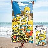 Toalla de playa de microfibra S-Imp-Sons, de secado rápido, superabsorbente, grande, grande, fina, para viajes, piscina, baño, camping, yoga, deportes, 31.5 x 63 pulgadas