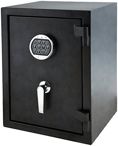 Amazon Basics Fire Resistant Box Safe with Keypad, 1.24 Cubic Feet