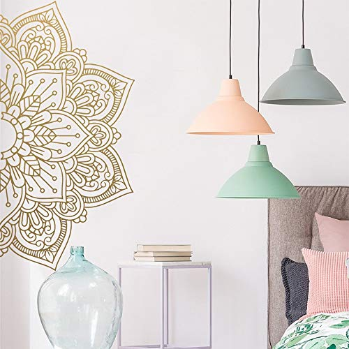 Mandala etiqueta de la pared calcomanías artísticas para la decoración de las habitaciones de la casa meditación Yoga calcomanía pegatinas creativas decoración del hogar papel tapiz A8 57x113cm